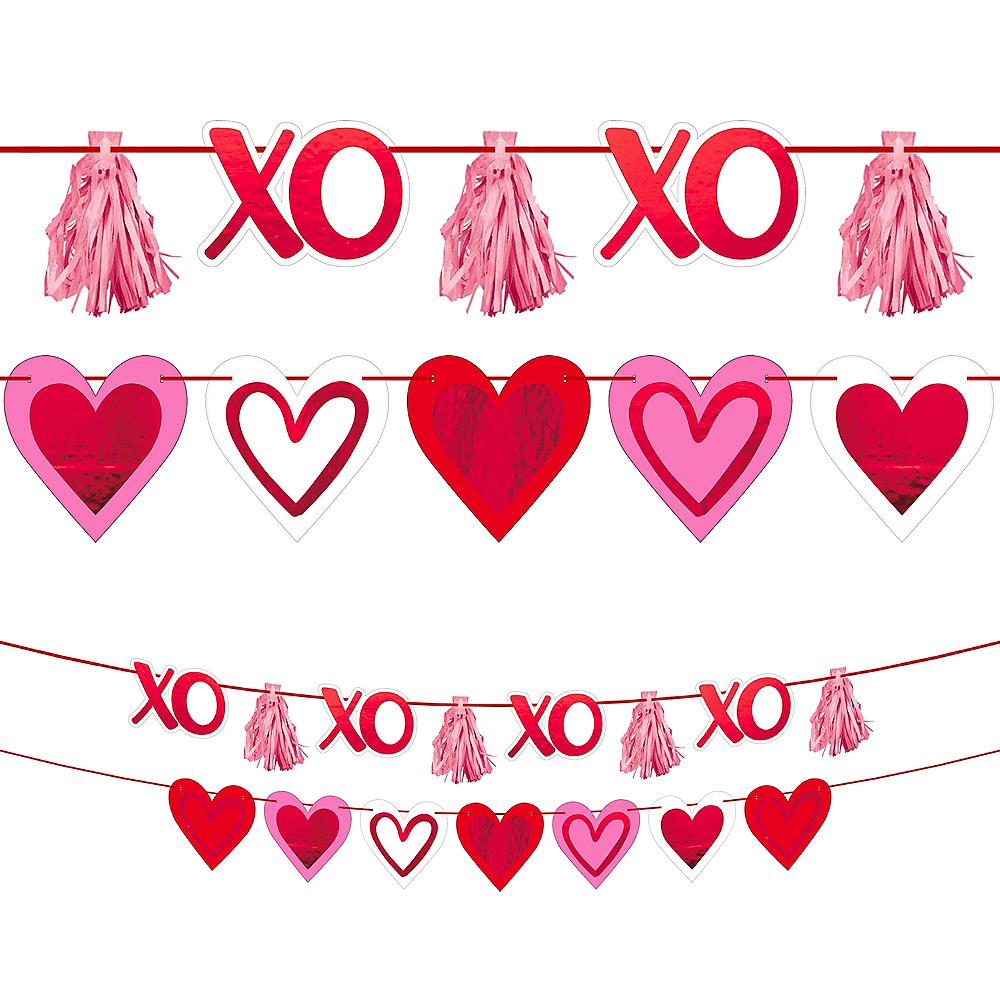 Valentine's Day Heart & Tassel Banners 2ct Image #1