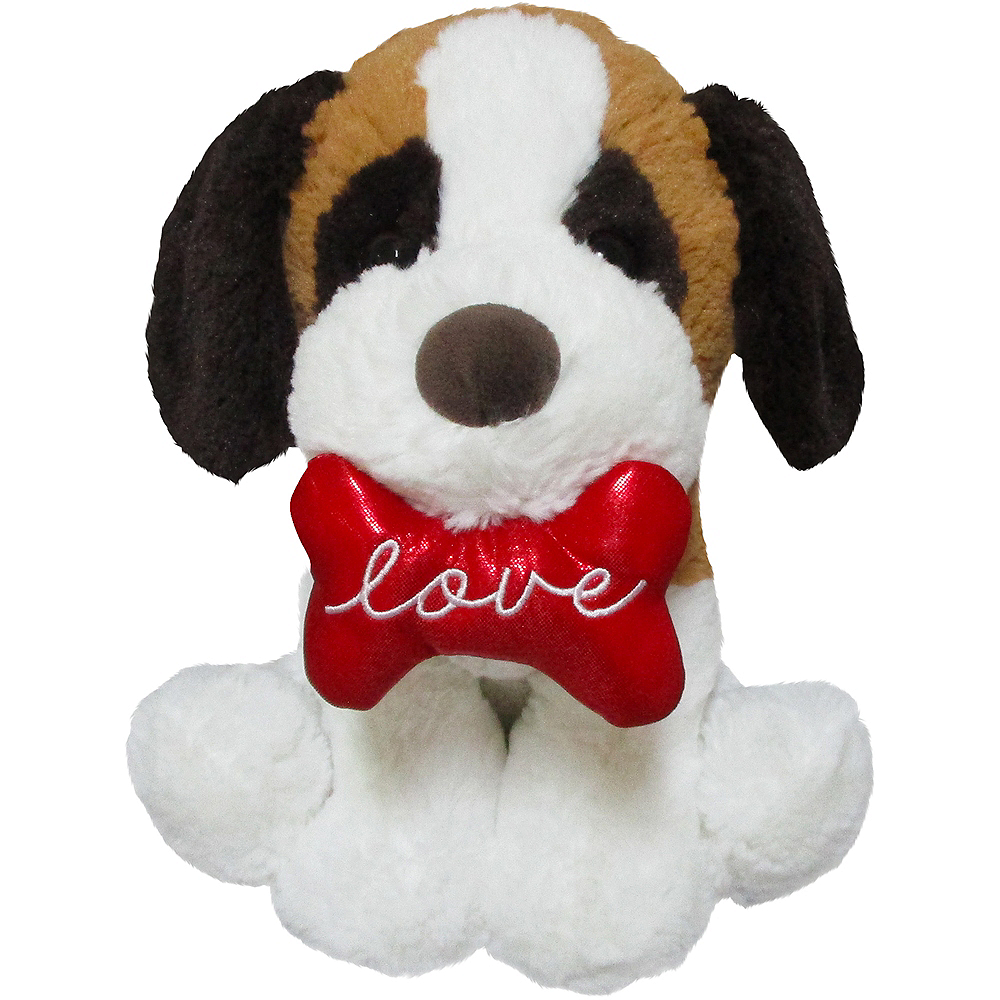 Brown & White Love Puppy Plush Image #1
