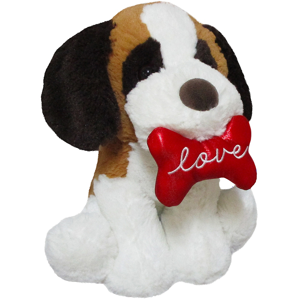 Brown & White Love Puppy Plush Image #2