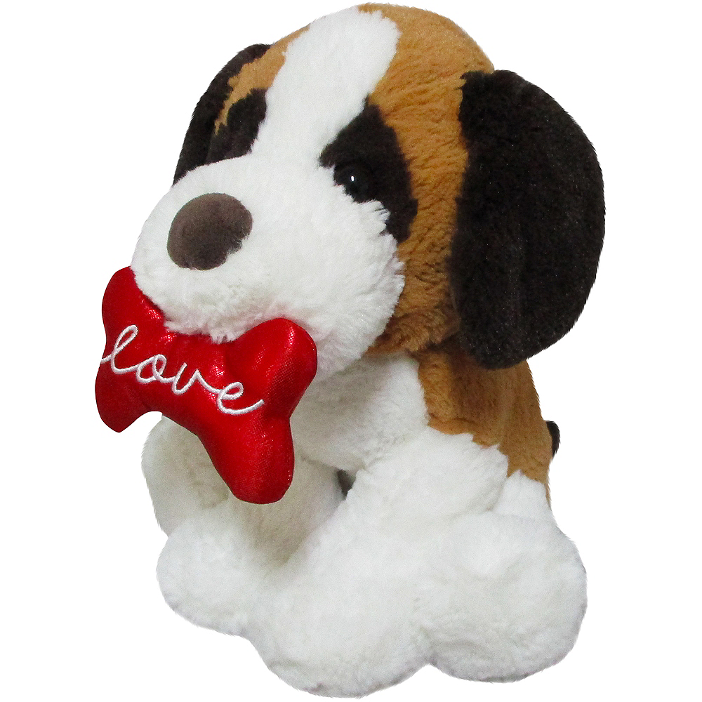 Brown & White Love Puppy Plush Image #3