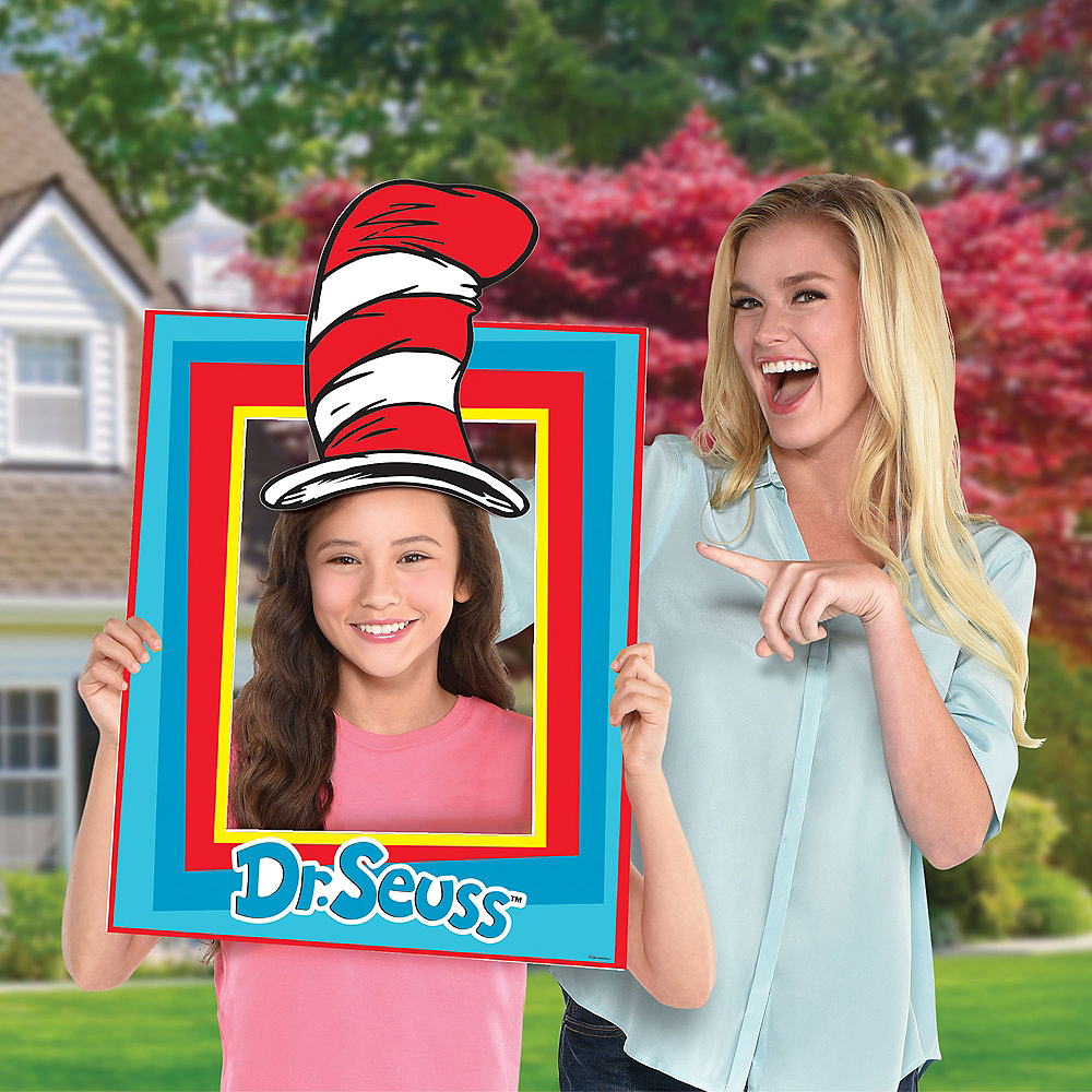 Dr. Seuss Photo Booth Frame & Hat Photo Prop Image #1