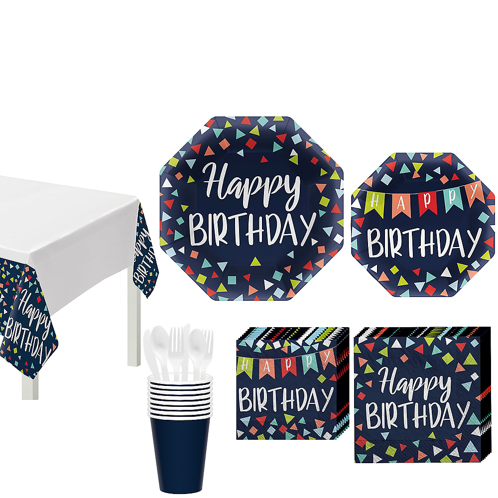 A Reason to Celebrate Birthday Tableware Kit for 8 Guests Image #1
