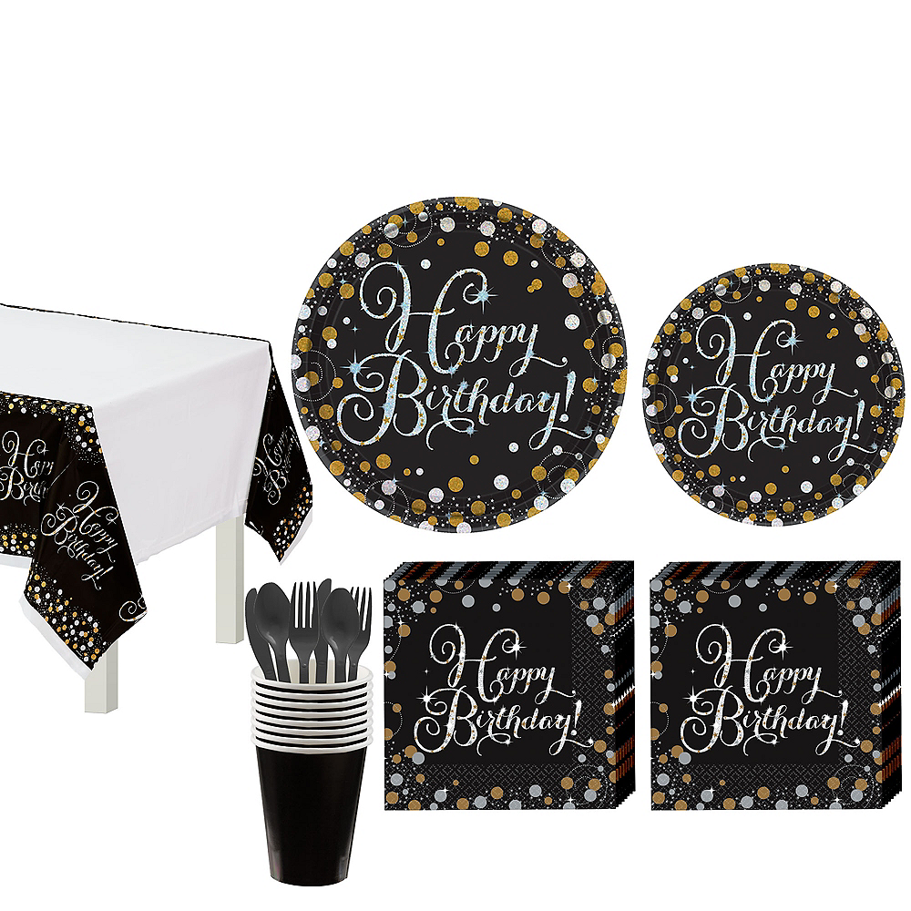 Sparkling Celebration Birthday Tableware Kit for 8 Guests Image #1
