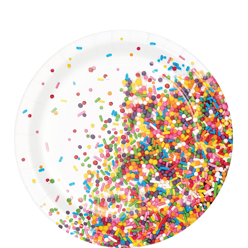 Rainbow Sprinkles Birthday Tableware Kit for 8 Guests Image #2