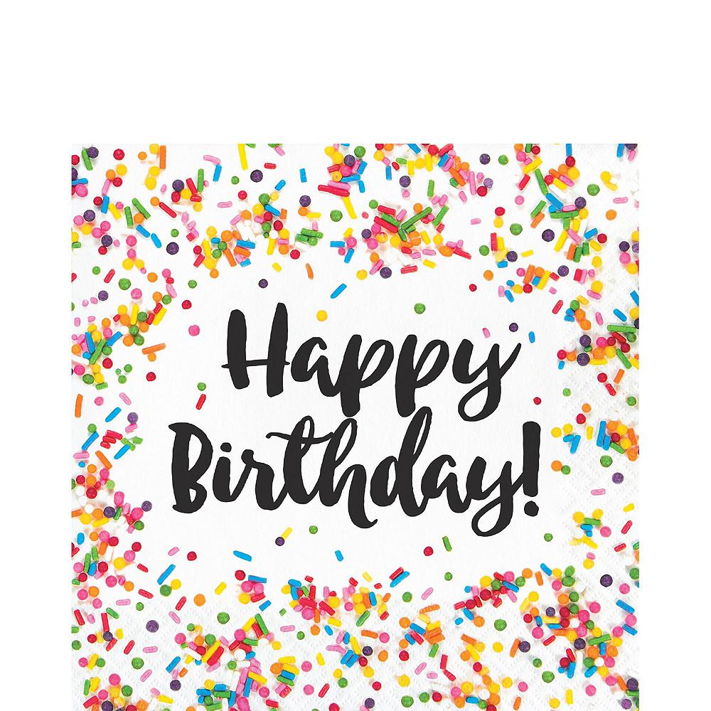 Rainbow Sprinkles Birthday Tableware Kit for 8 Guests Image #4