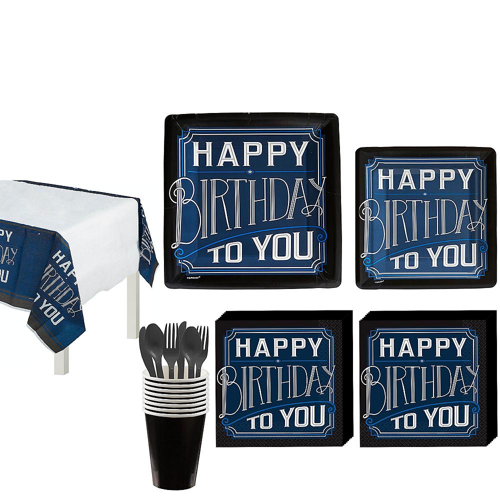 Vintage Happy Birthday Tableware Kit for 8 Guests Image #1
