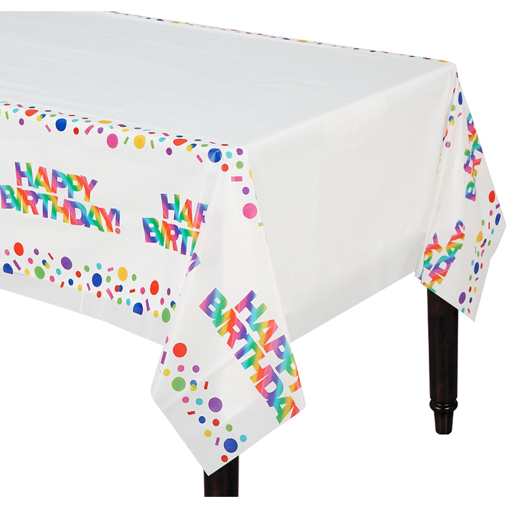 Metallic Rainbow Birthday Tableware Kit for 8 Guests Image #6