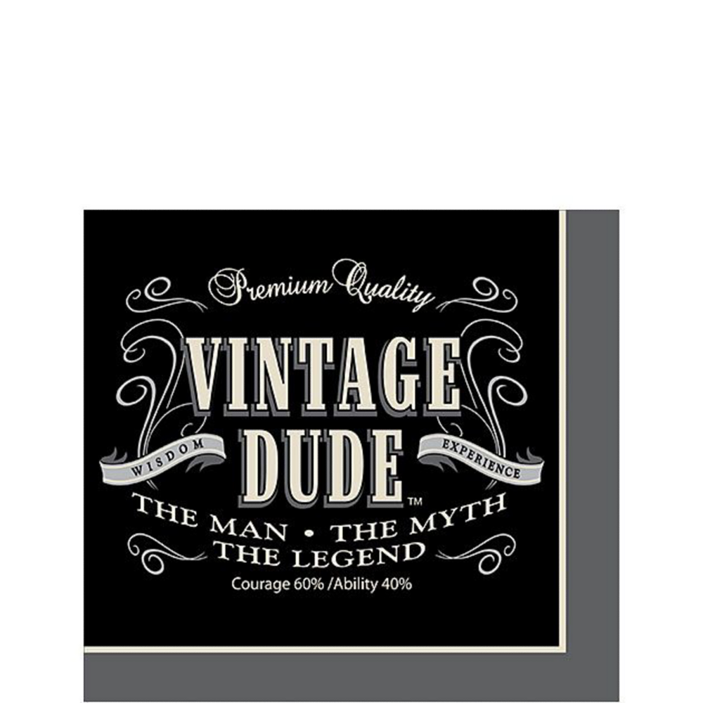 Vintage Dude 60th Birthday Tableware Kit for 8 Guests Image #4