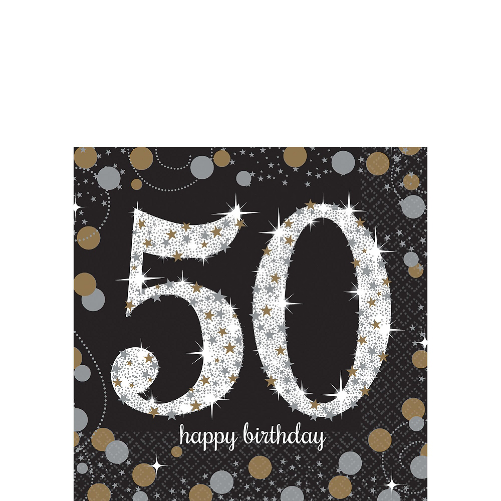 Sparkling Celebration 50th Birthday Tableware Kit for 8 Guests Image #4