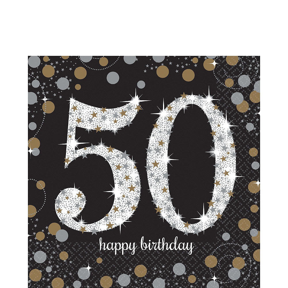 Sparkling Celebration 50th Birthday Tableware Kit for 8 Guests Image #5