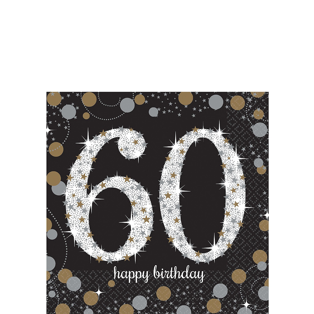 Sparkling Celebration 60th Birthday Tableware Kit for 8 Guests Image #4