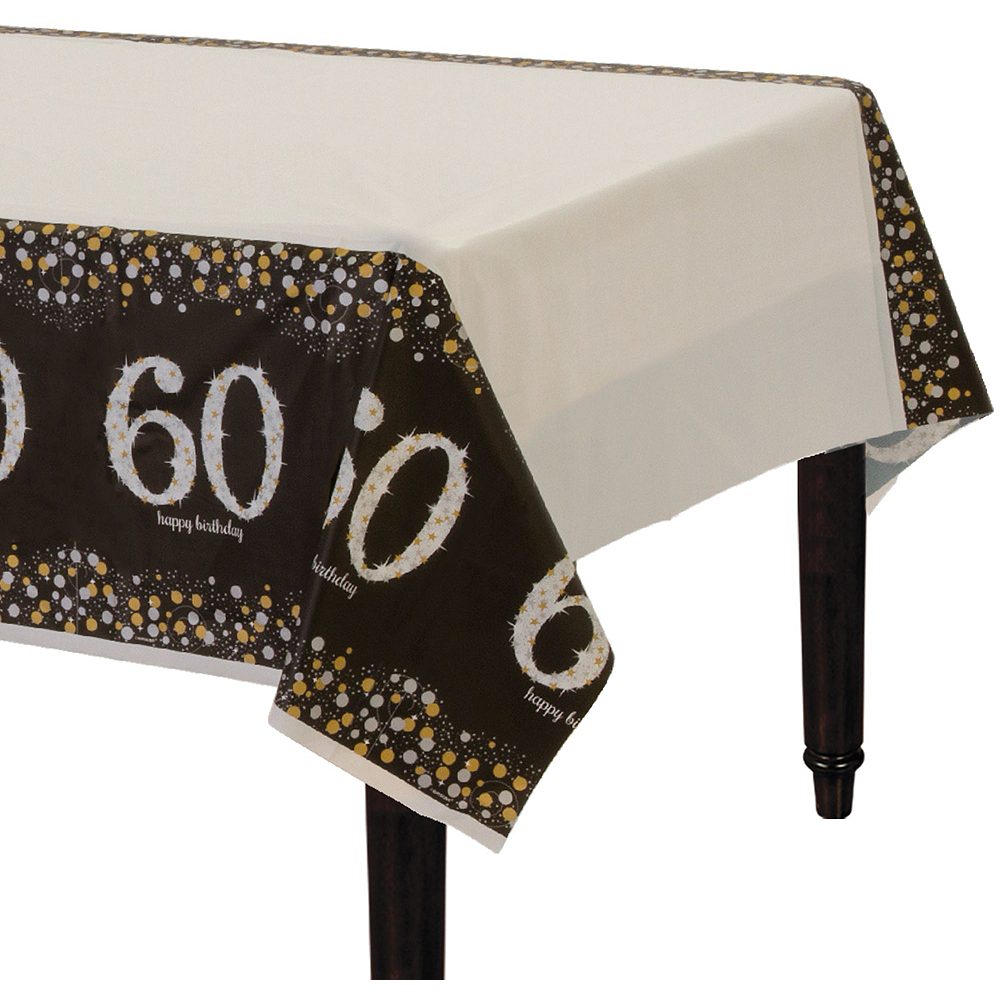 Sparkling Celebration 60th Birthday Tableware Kit for 8 Guests Image #7