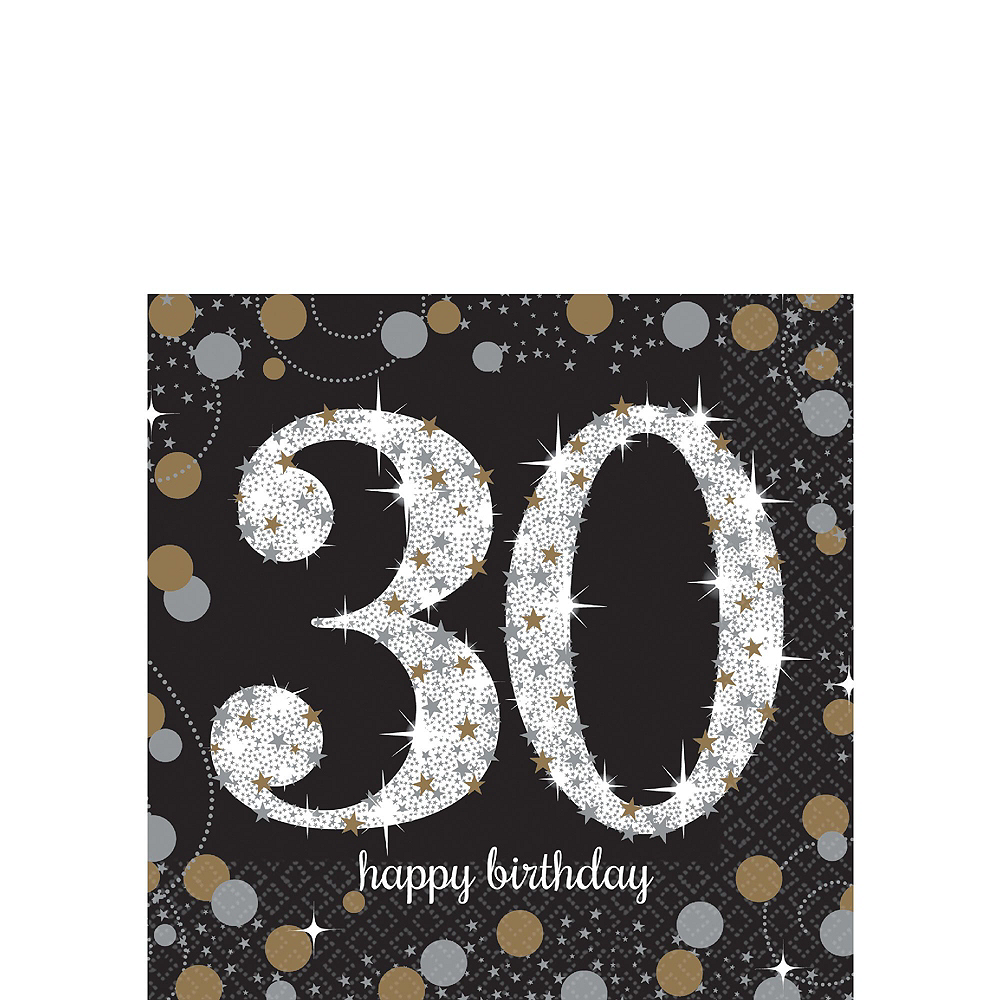 Sparkling Celebration 30th Birthday Tableware Kit for 8 Guests Image #4