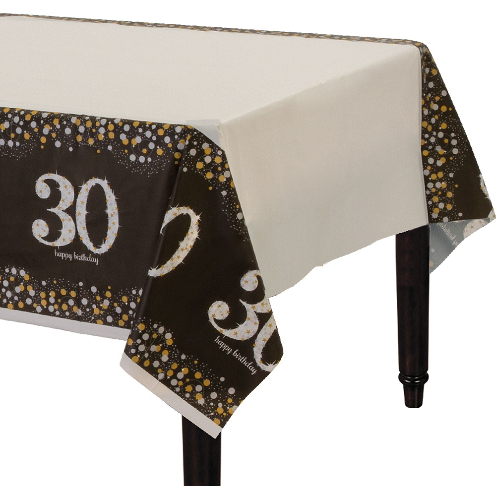 Sparkling Celebration 30th Birthday Tableware Kit for 8 Guests Image #7