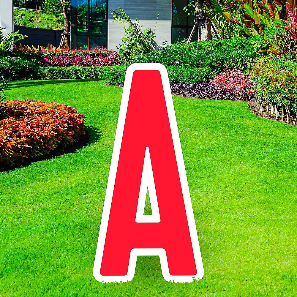 Giant Red Corrugated Plastic Letter (A) Yard Sign, 30in Image #1