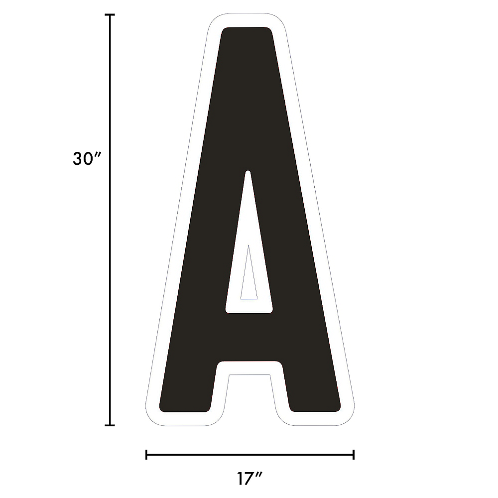 Giant Black Corrugated Plastic Letter (A) Yard Sign, 30in Image #2
