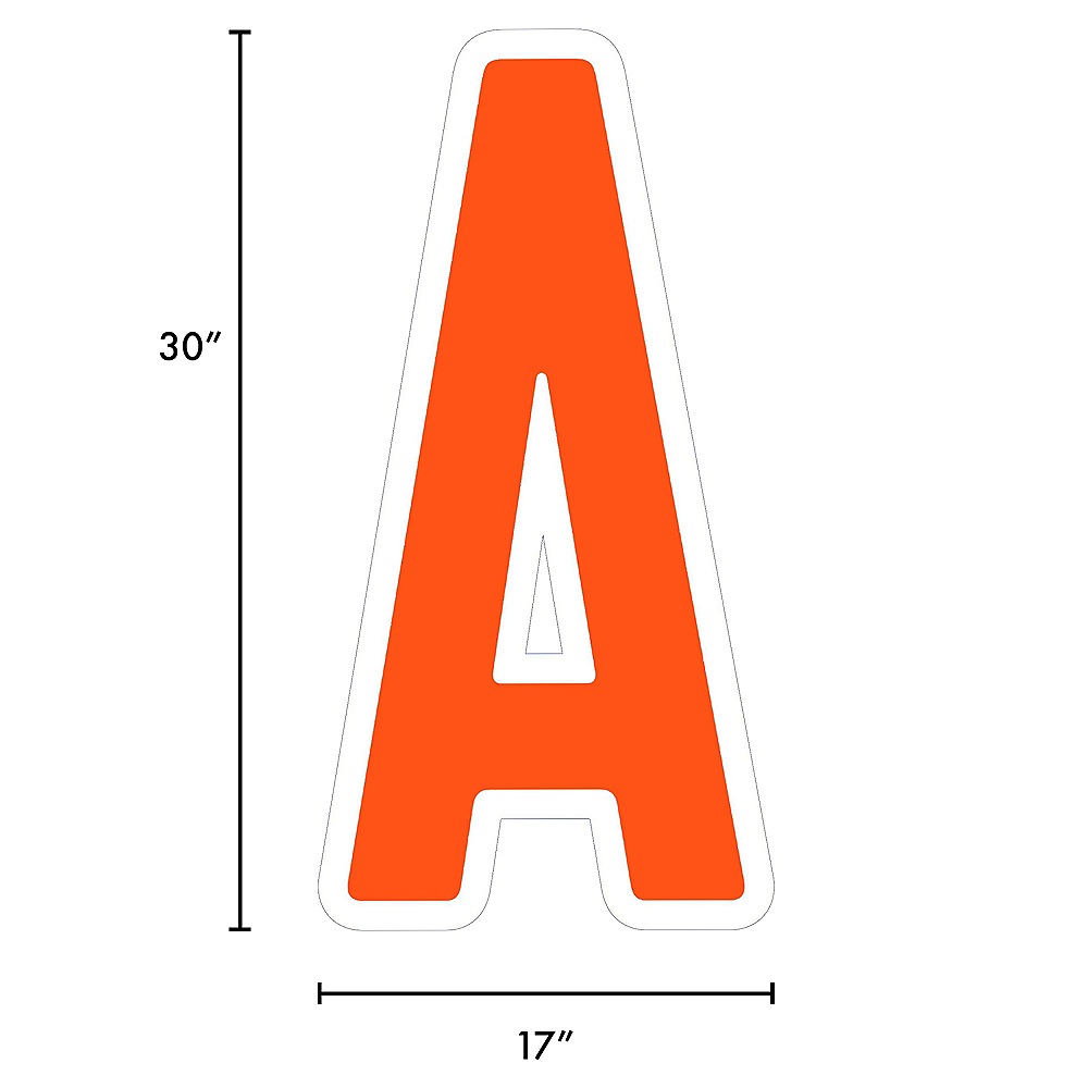 Giant Orange Corrugated Plastic Letter (A) Yard Sign, 30in Image #2