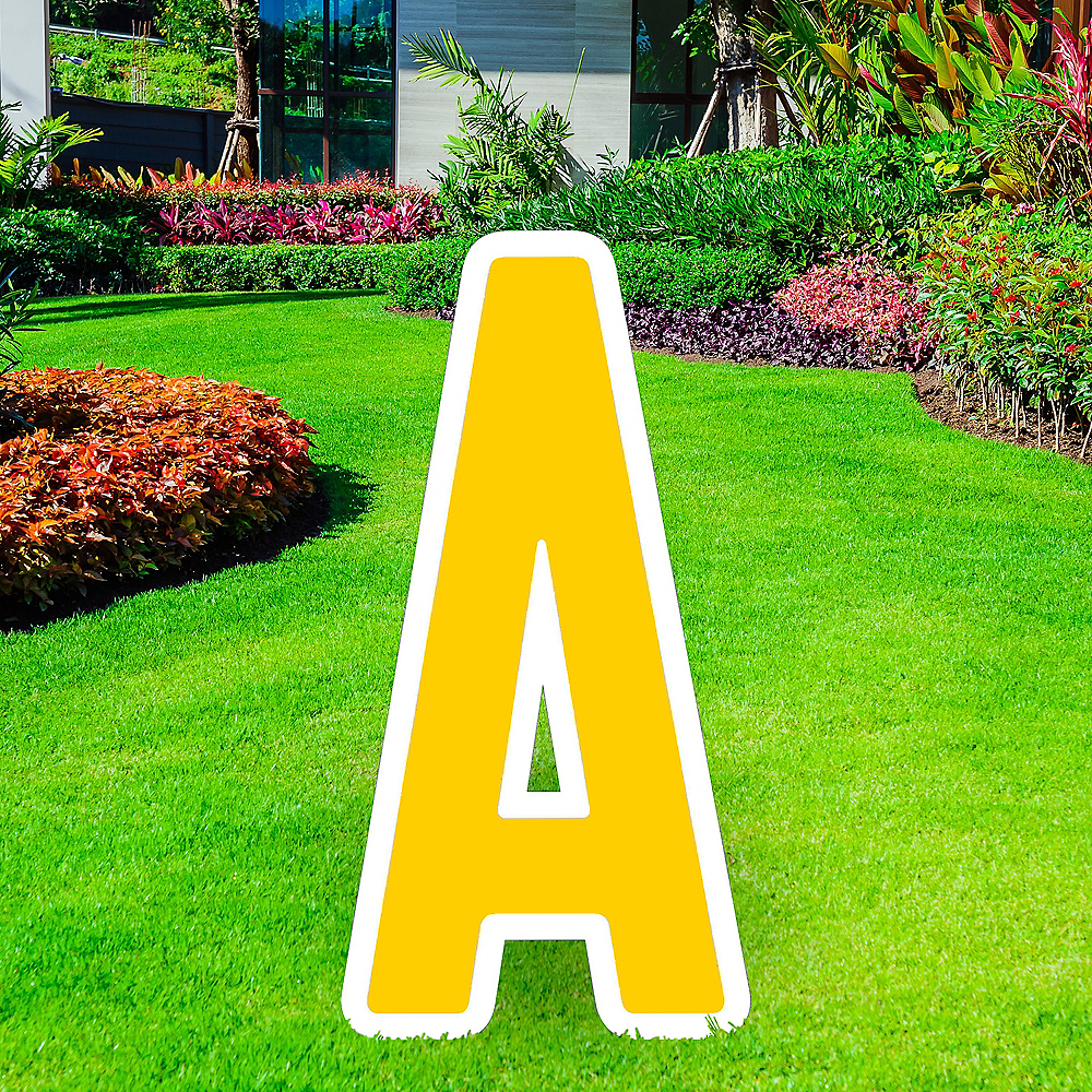 Nav Item for Giant Yellow Corrugated Plastic Letter (A) Yard Sign, 30in Image #1