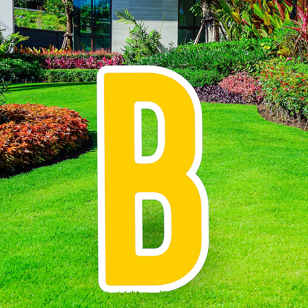 Giant Yellow Corrugated Plastic Letter (B) Yard Sign, 30in Image #1