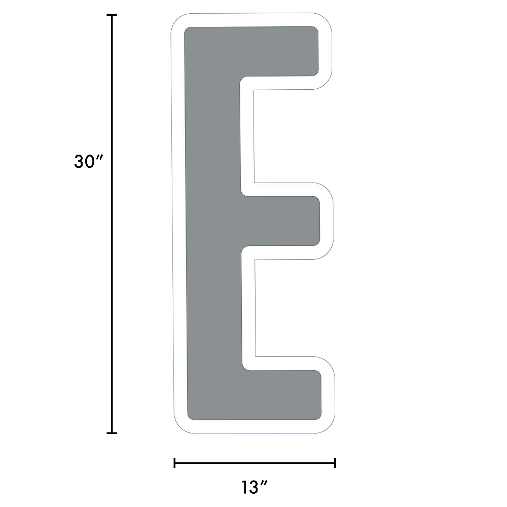 Giant Silver Corrugated Plastic Letter (E) Yard Sign, 30in Image #2