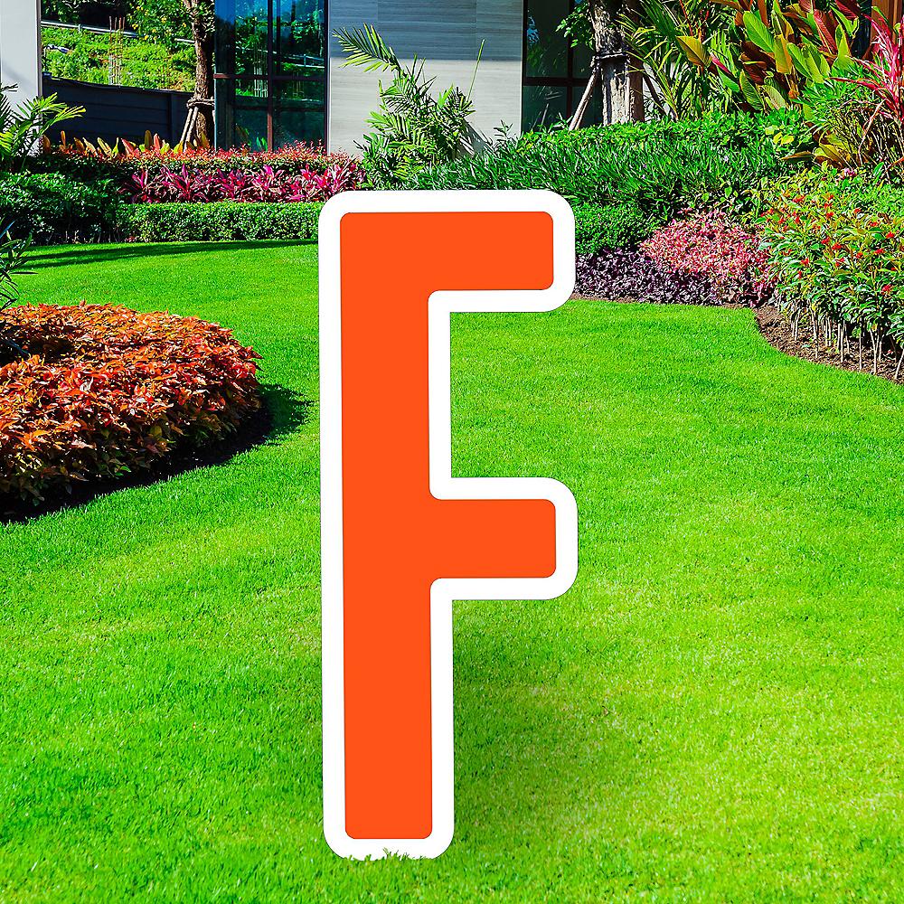 Giant Orange Corrugated Plastic Letter (F) Yard Sign, 30in Image #1