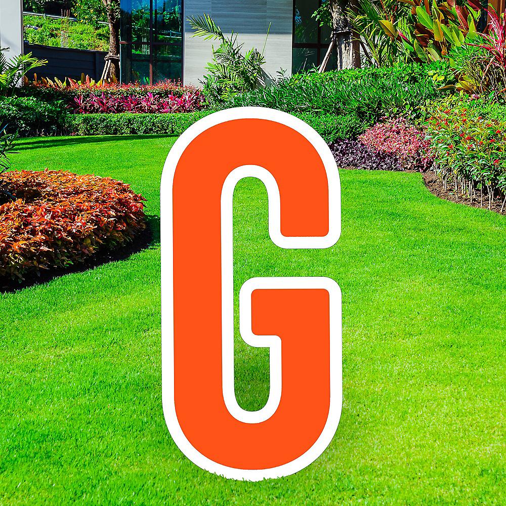 Giant Orange Corrugated Plastic Letter (G) Yard Sign, 30in Image #1