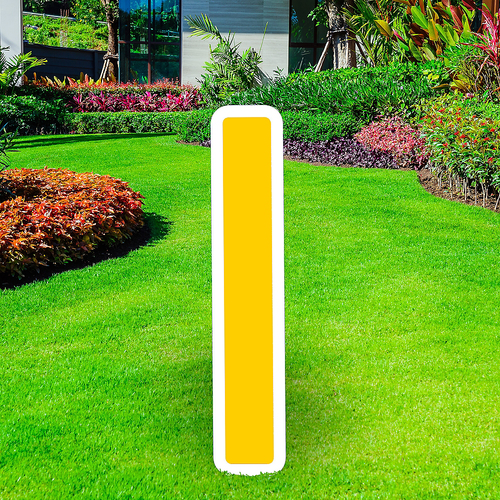 Giant Yellow Corrugated Plastic Letter (I) Yard Sign, 30in Image #1