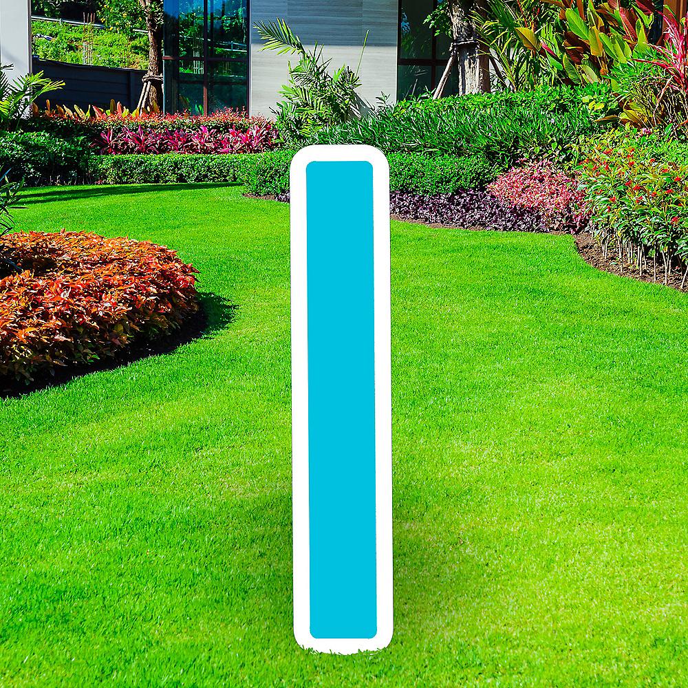 Giant Caribbean Blue Corrugated Plastic Letter (I) Yard Sign, 30in Image #1