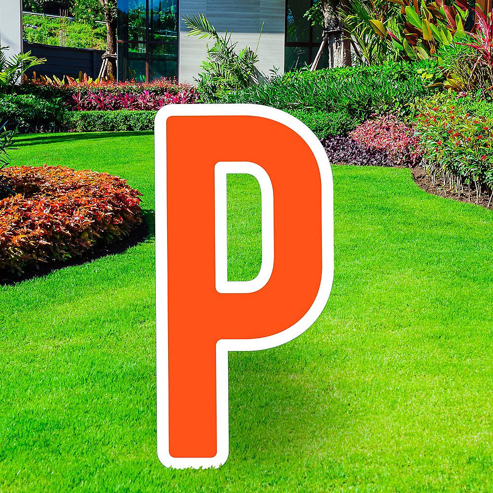 Giant Orange Corrugated Plastic Letter (P) Yard Sign, 30in Image #1