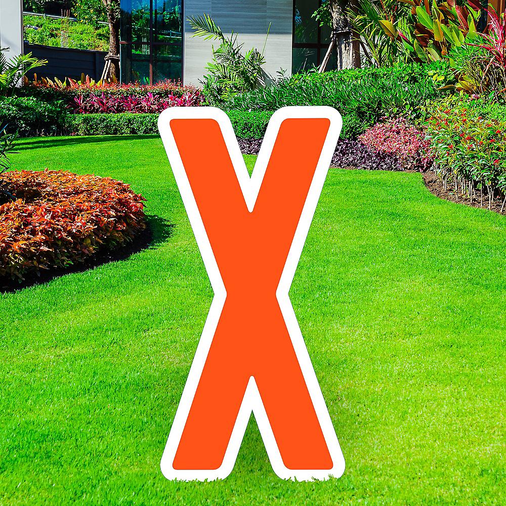 Giant Orange Corrugated Plastic Letter (X) Yard Sign, 30in Image #1