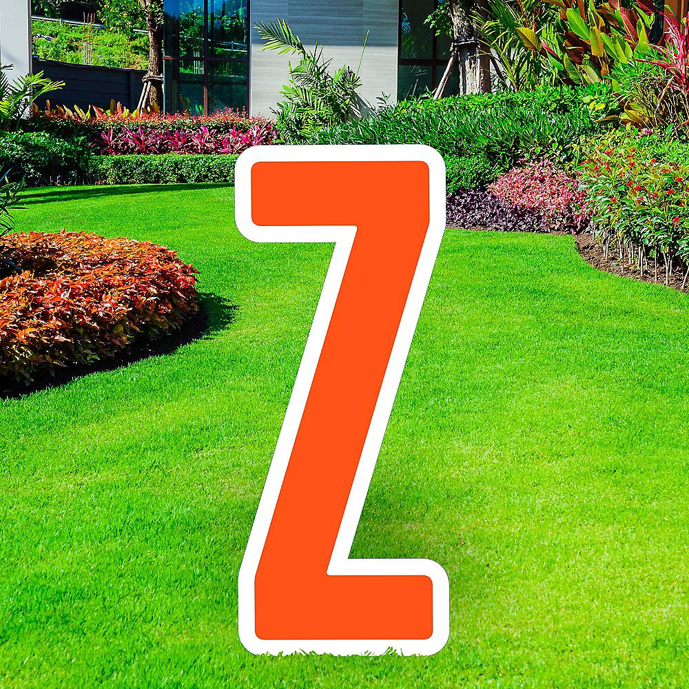 Giant Orange Corrugated Plastic Letter (Z) Yard Sign, 30in Image #1