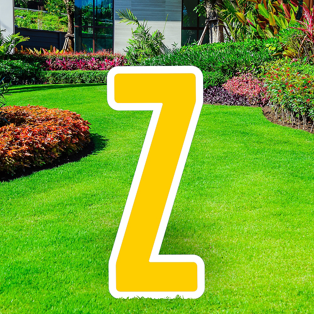 Giant Yellow Corrugated Plastic Letter (Z) Yard Sign, 30in Image #1