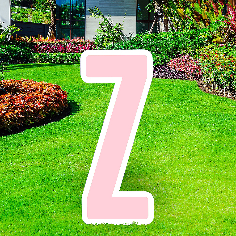 Giant Blush Pink Corrugated Plastic Letter (Z) Yard Sign, 30in Image #1