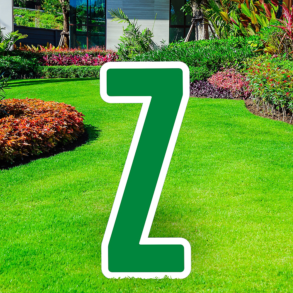 Giant Festive Green Corrugated Plastic Letter (Z) Yard Sign, 30in Image #1