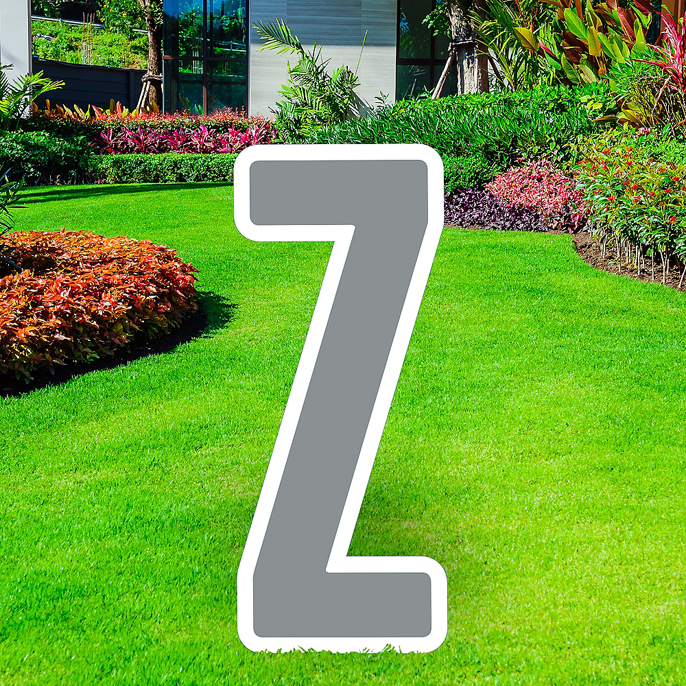 Giant Silver Corrugated Plastic Letter (Z) Yard Sign, 30in Image #1