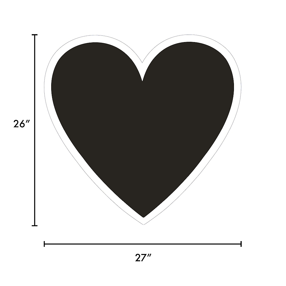 Giant Black Corrugated Plastic Heart Yard Sign, 26in Image #2
