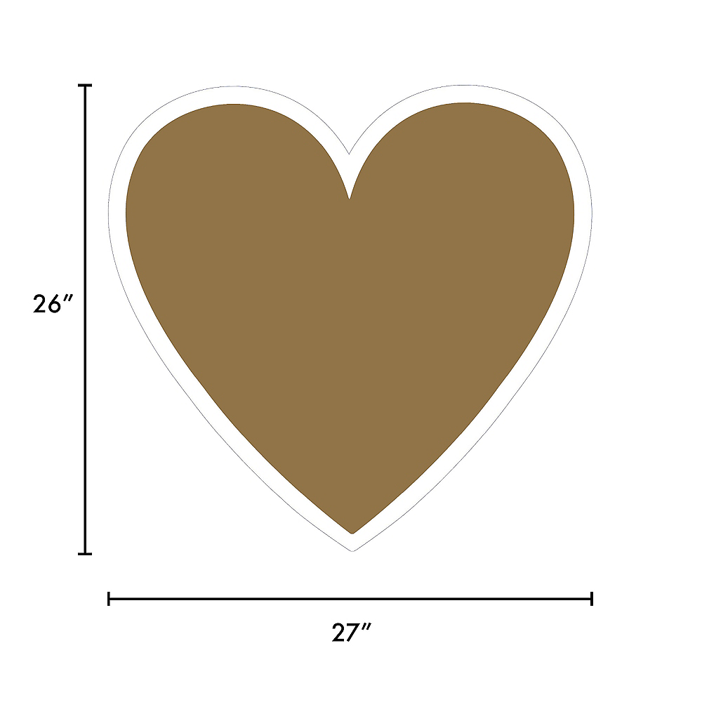 Giant Gold Corrugated Plastic Heart Yard Sign, 26in Image #2