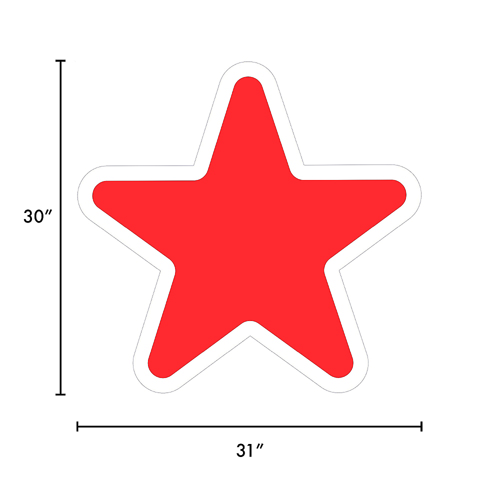 Giant Red Corrugated Plastic Star Yard Sign, 30in Image #2