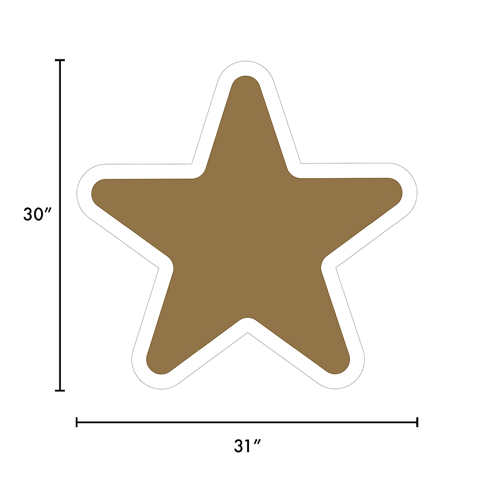 Giant Gold Corrugated Plastic Star Yard Sign, 30in Image #2