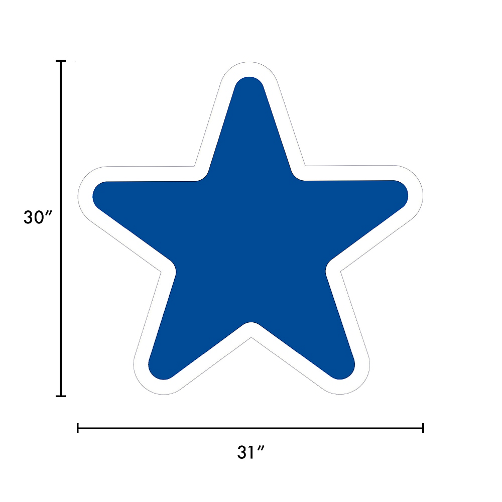 Giant Royal Blue Corrugated Plastic Star Yard Sign, 30in Image #2