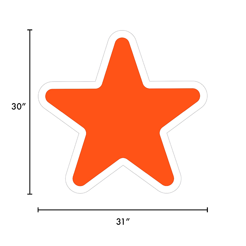 Giant Orange Corrugated Plastic Star Yard Sign, 30in Image #2