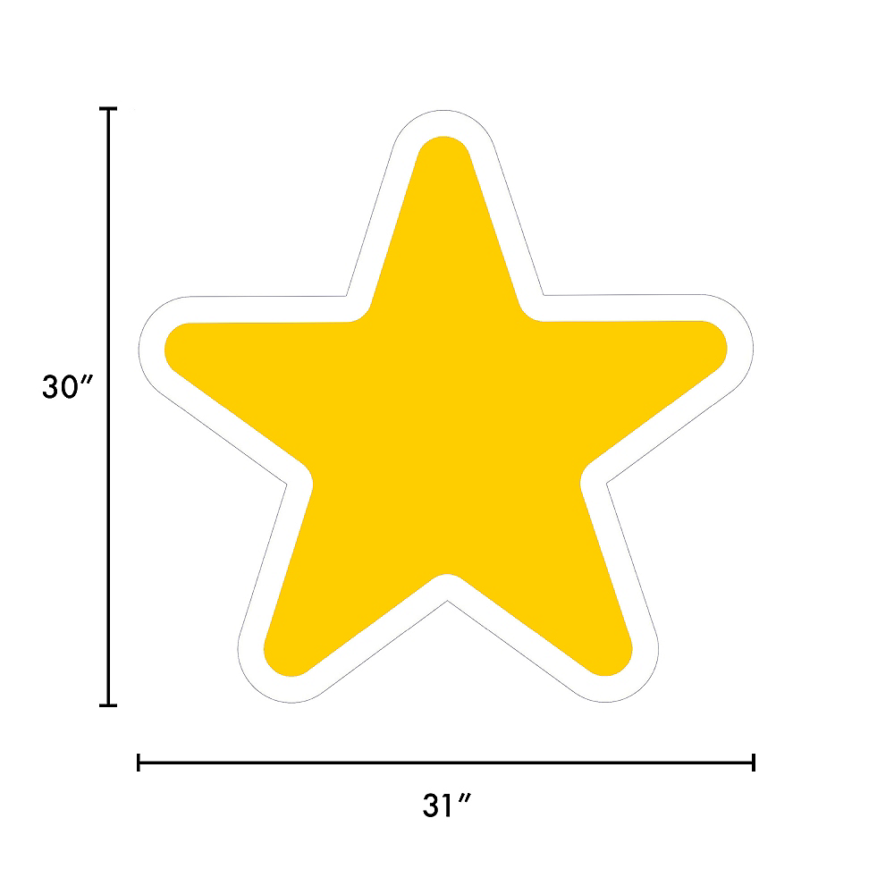 Giant Yellow Corrugated Plastic Star Yard Sign, 30in Image #2