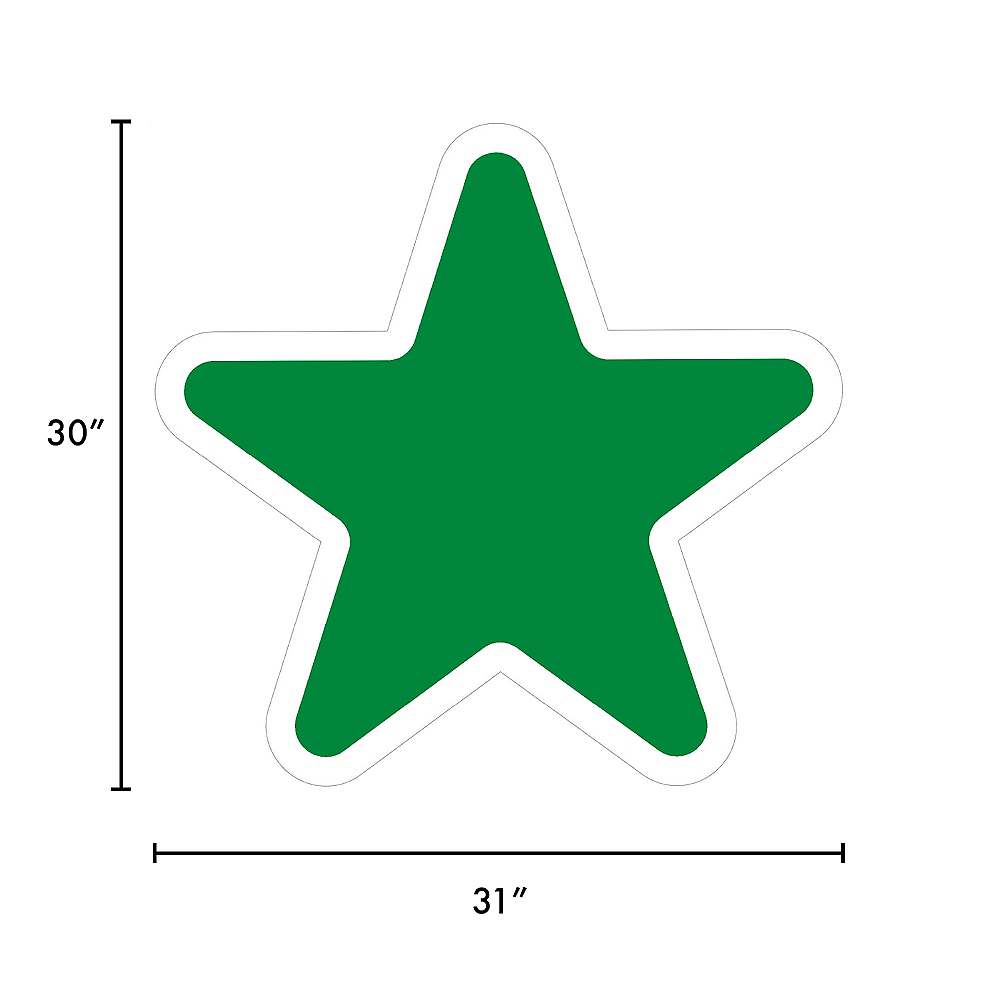 Giant Festive Green Corrugated Plastic Star Yard Sign, 30in Image #2