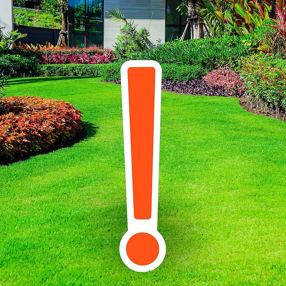 Giant Orange Corrugated Plastic Exclamation Point Yard Sign, 30in Image #1