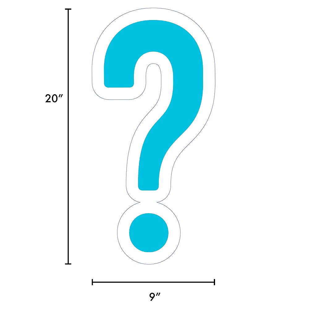 Giant Caribbean Blue Corrugated Plastic Question Mark Yard Sign, 20in Image #2