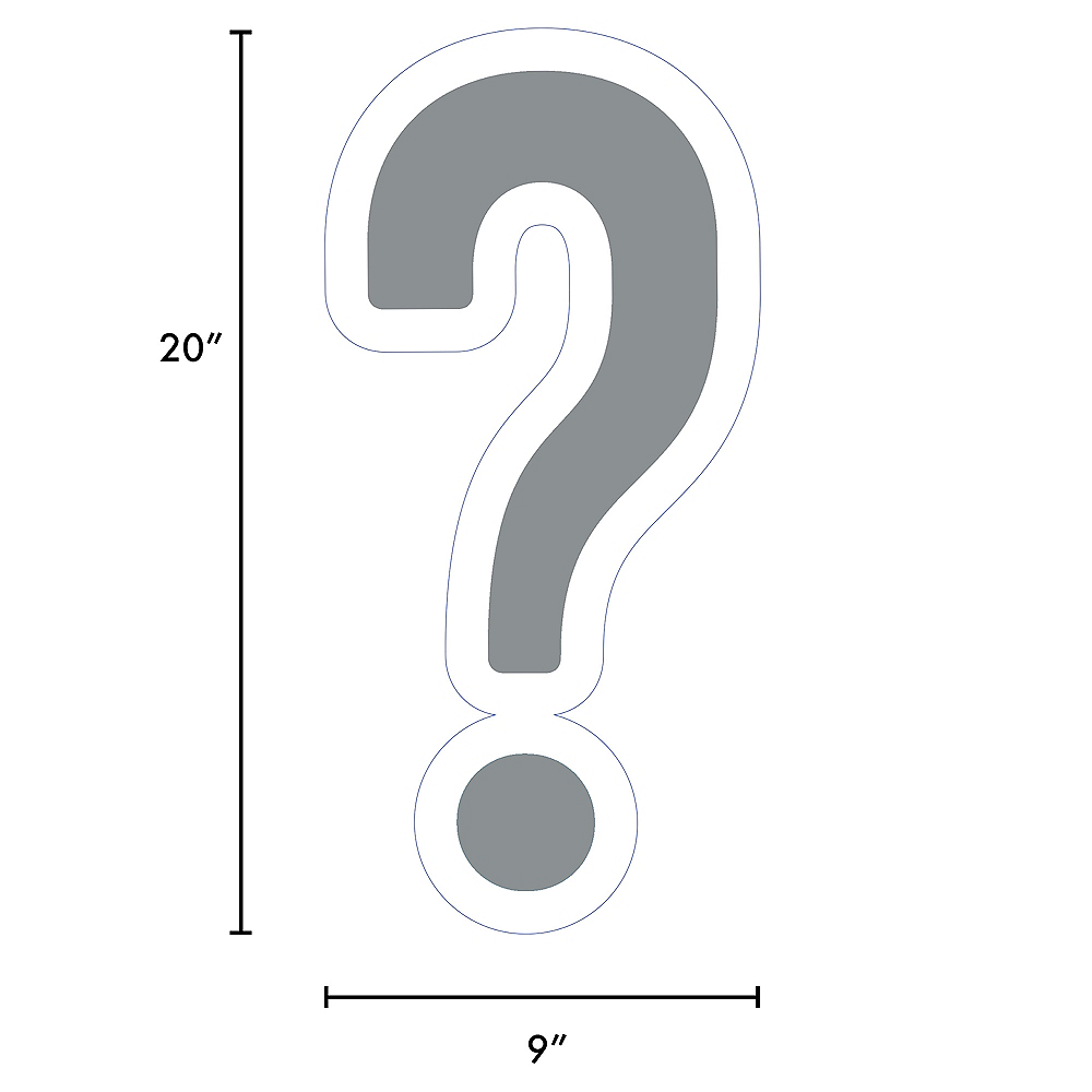 Giant Silver Corrugated Plastic Question Mark Yard Sign, 20in Image #2