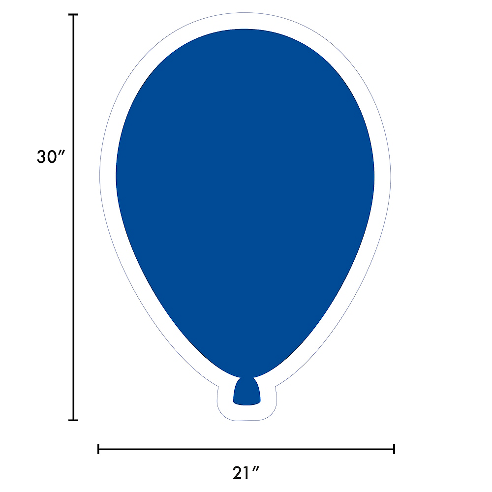 Giant Royal Blue Corrugated Plastic Balloon Yard Sign, 30in Image #2