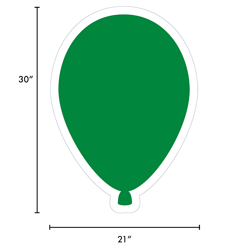Giant Festive Green Corrugated Plastic Balloon Yard Sign, 30in Image #2