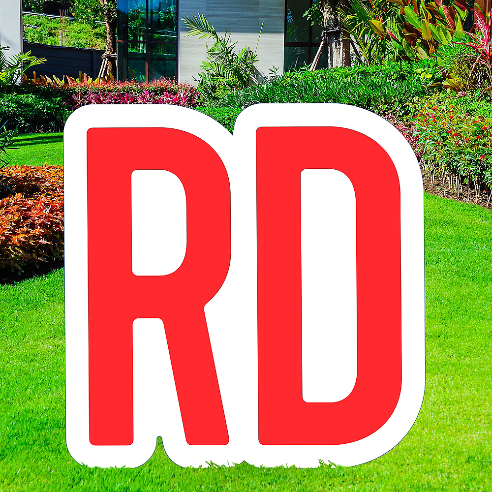Giant Red Corrugated Plastic Ordinal Indicator (RD) Yard Sign, 15in Image #1