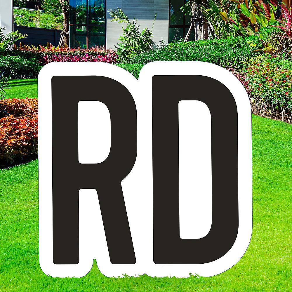 Giant Black Corrugated Plastic Ordinal Indicator (RD) Yard Sign, 15in Image #1